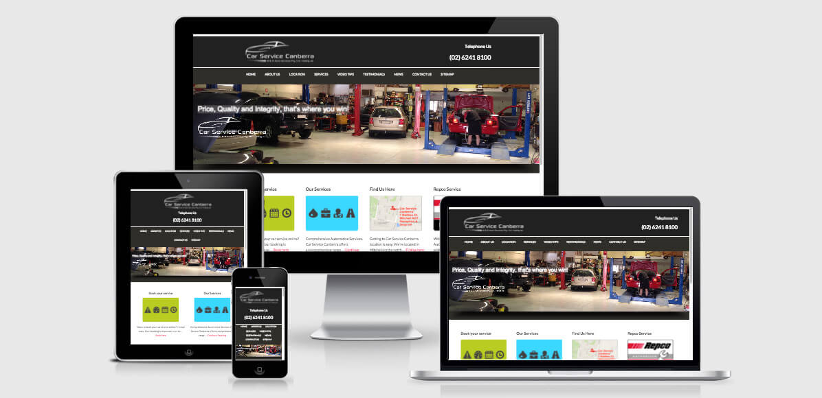 Image of Car Services Canberra at the Your Web Presence Website