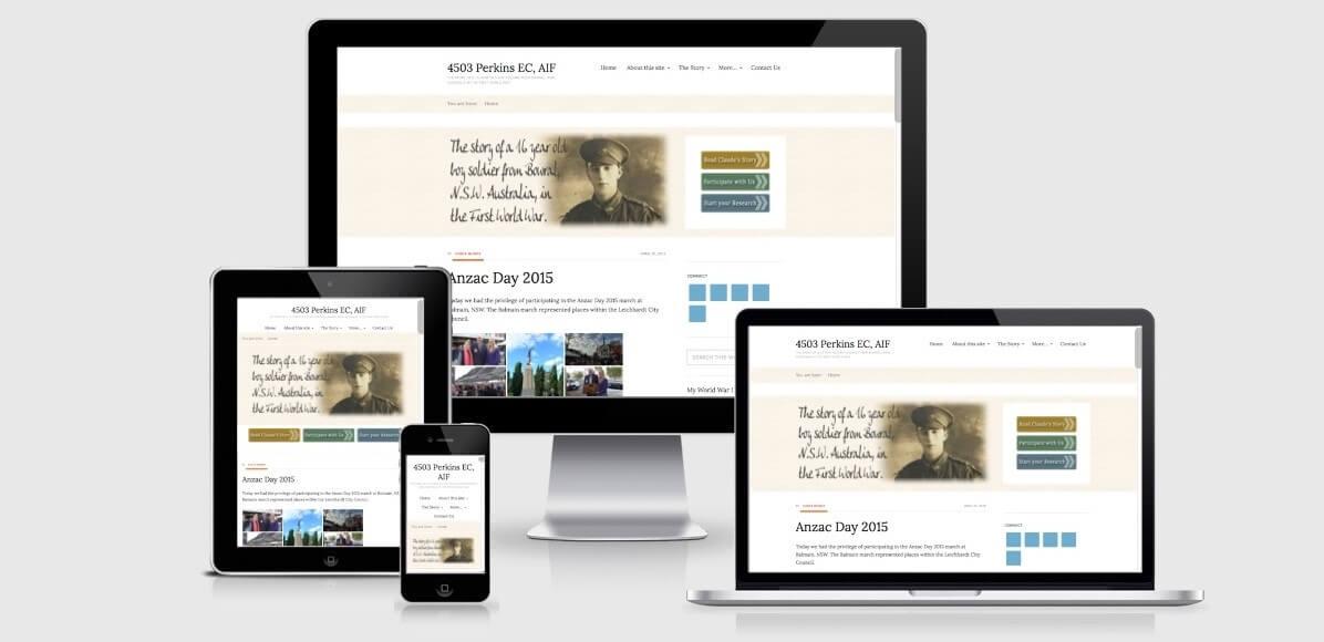 Image of the 4503 ECPerkins website