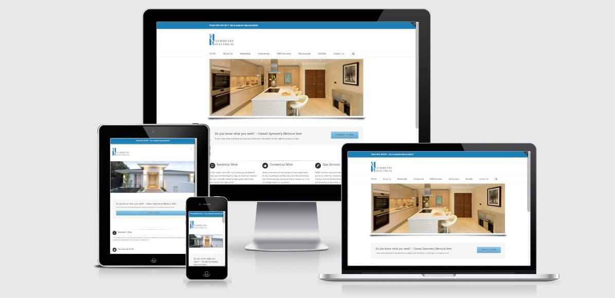 Image of the Symmetry Electrical Services Website