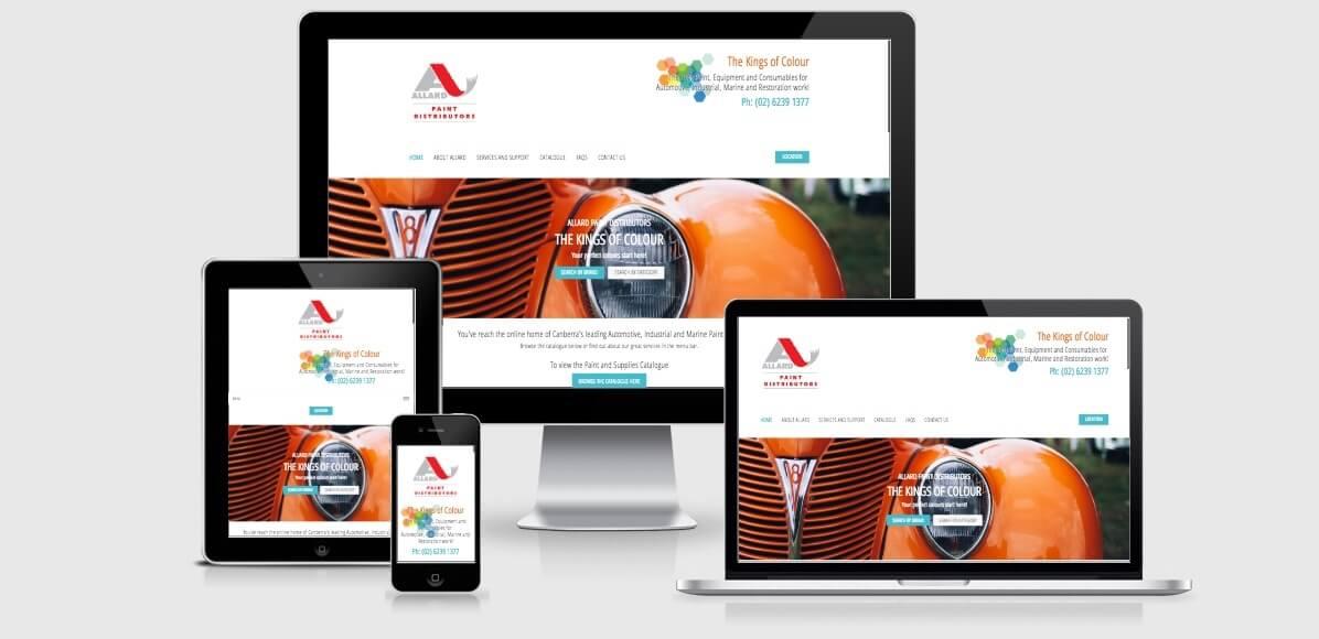 Image of the Allards Website