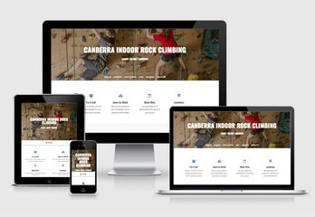 Image of the Canberra Indoor Rock Climbing Website