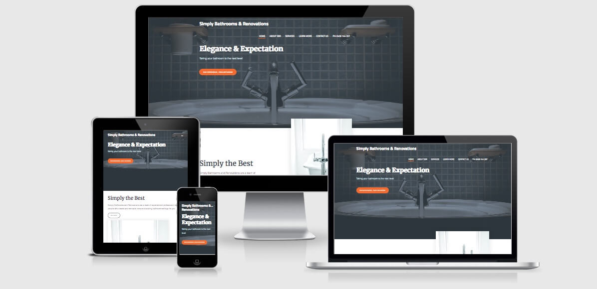 Image of the Simply Bathrooms and Renovations Website