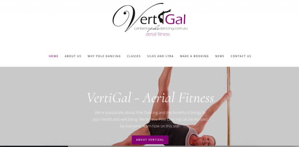 Image of the Vertigal website