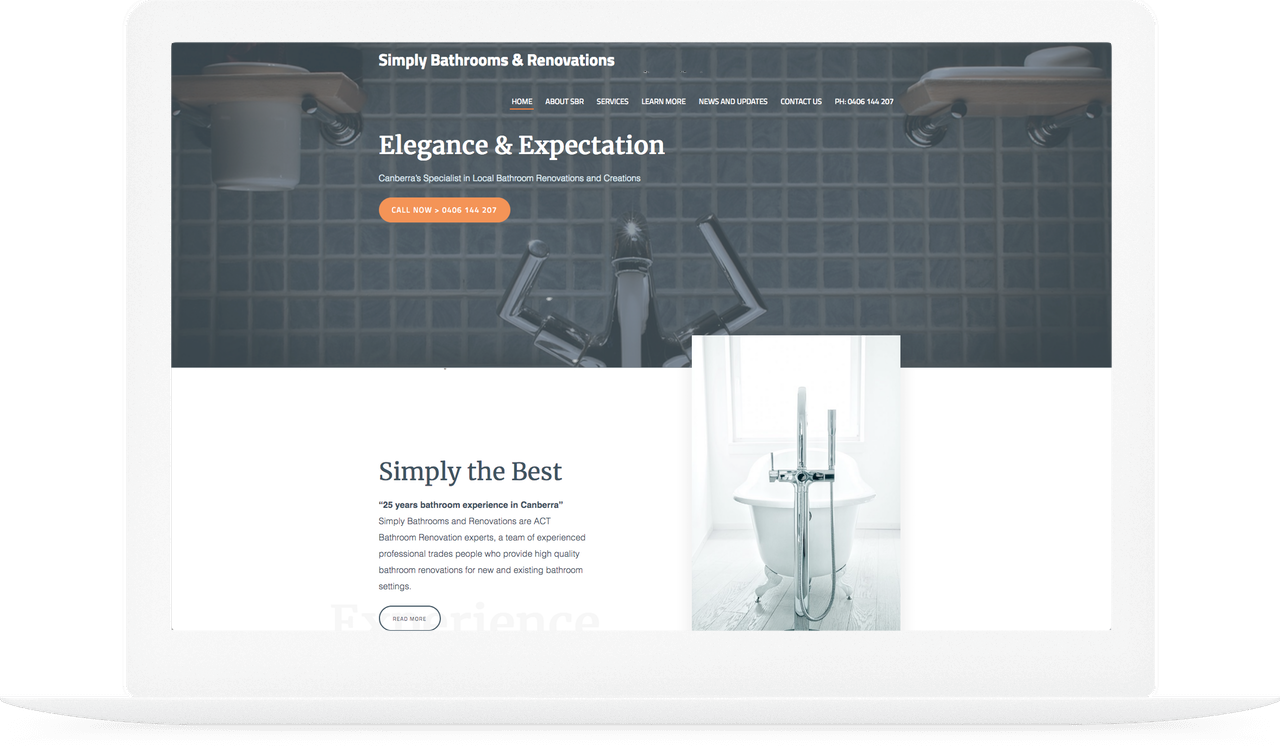 Image of Simply Bathrooms Web Job