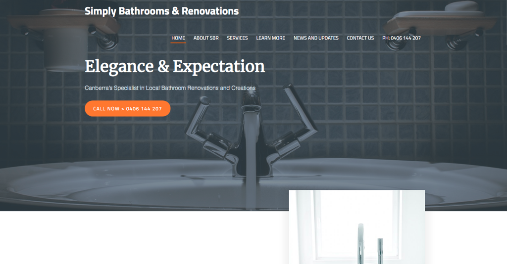 Image of Simply Bathrooms and Renovations Website