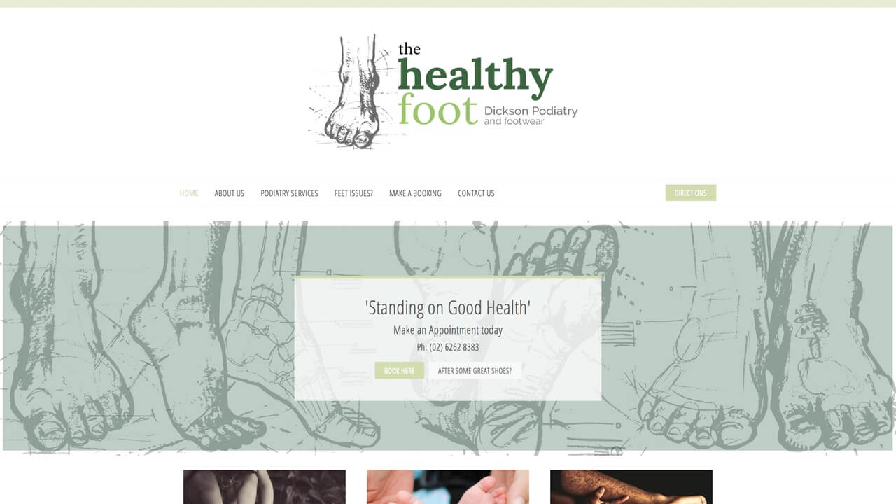 Image for the Helathy Foot Website
