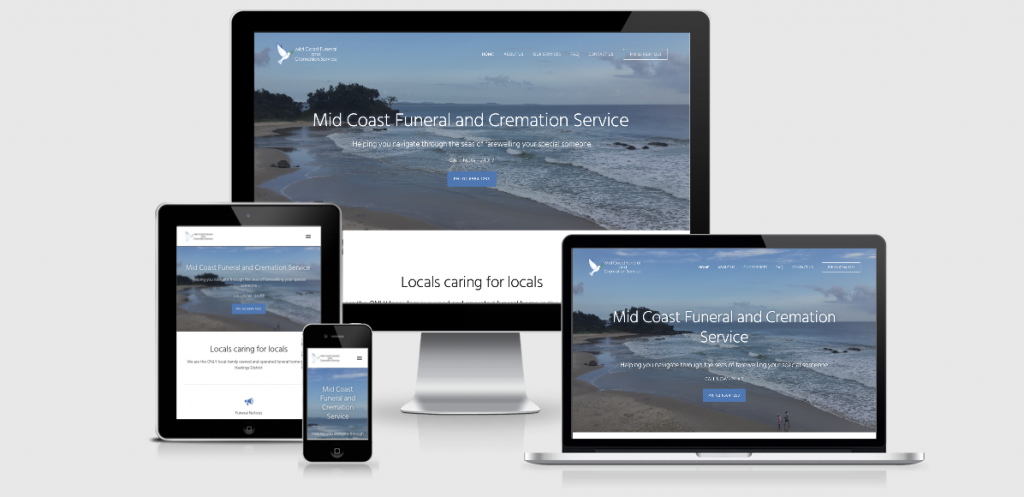 Image of Mid Coast Funeral and Cremation Service website